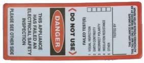 Do not use - Electrical safety tag